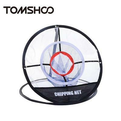 TOMSHOO Tragbare 20-Zoll-Golf Training Chipping Net Schlagen Aid Praxis T6G0