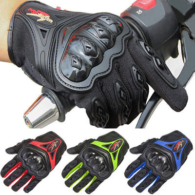 Carbon Fiber Motorcycle Motorbike Gloves Men Racing ATV Hard Knuckle All Weather
