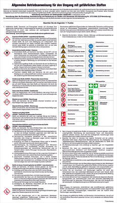Notice Board - Dangerous Substances » General Operating Instructions for Use of
