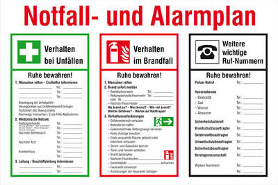 Notice Board - Fire Protection » Emergency- and Alarmplan« S10270
