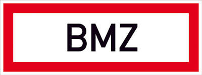Notice Sign for Fire Fighters » Bmz « S9744