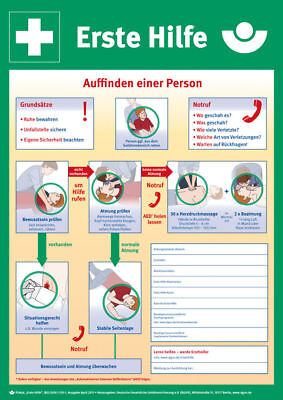 Notice Board - First Aid » Instructions for First Help at Unfällen« S10272
