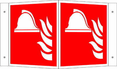 Brandschutzschild - Angle » Middle and Device for Fire-Fighting« S8841