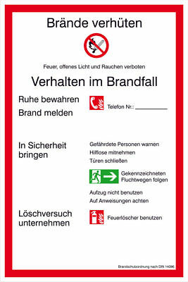 Notice Board - Fire Protection » Brandschutzordnung Part a « S8802