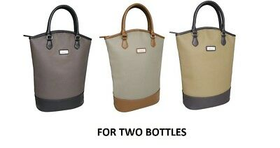 Sachi Wine For 2 Bottle BYO Insulated Cooler Bag Tote Carrier Purse Handbag