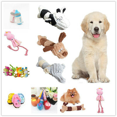 Pet Dog Squeak Sound Plush Toy Pet Puppy Chew Play Funny Training Squeaking Toys