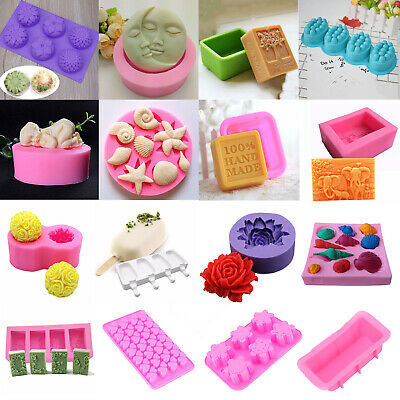 Rectangle Homemade Making Soap Cake Candle Silicone Mold Baking Moulds DIY Craft