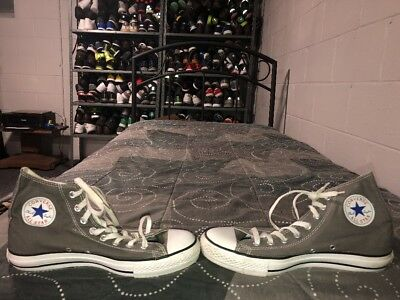Converse Chuck Taylor All Star High Top Mens Canvas Athletic Shoes Size 8 Gray