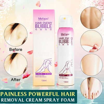 130ml SprayAway - Spray & Wipe Hair Removal Spray Épilation Mousse Dépilatoire