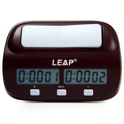 2018 LEAP PQ9907S Digital Chess Clock I-go Count Up Down Timer for Home School