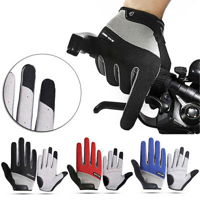 Road Mountain Bike Bicycle Cycling Full Finger Padded Gloves BMX MTB Touchscreen
