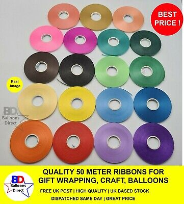 CURLING Balloon RIBBON Gift Wrapping Decoration, Florist 50 Meter & 5 MM Width