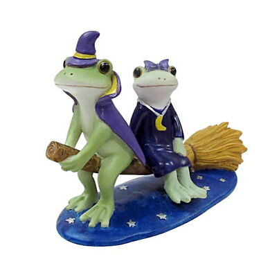 Copeau Frog Couple Halloween Straddle Broom Witch Mini Figure Figurine Japan F/S