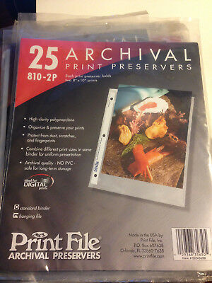 Print File 810-2P Archival Print Preservers (25 sheet) BRAND NEW. FREE SHIPPING!