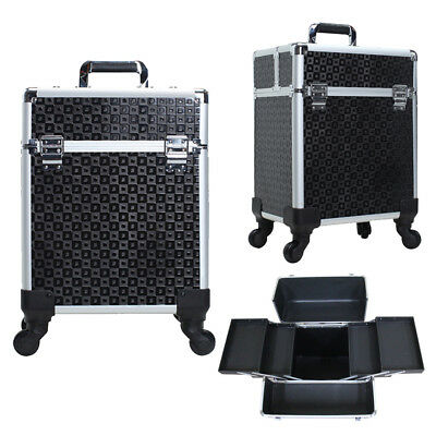 Tool Beauty Case Make-up Make-up Koffer Trolley 2 Räder Werkzeugtrolley Friseurkoffer