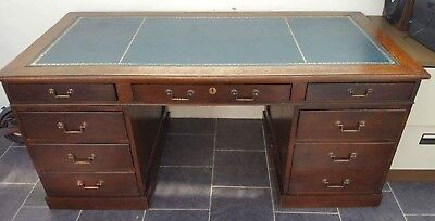 Vintage mahogany  double sided pedestal partners desk