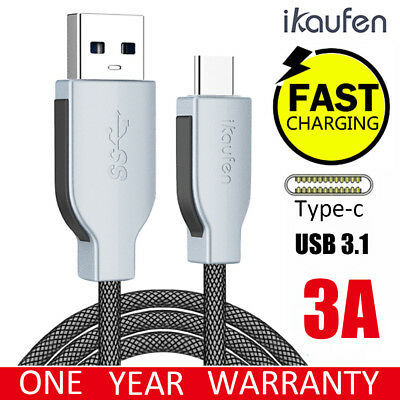 3M USB-C 3.1 Type-C Data 3A Fast Charger Charging Cable Samsung S10 S9 S8 Note 9