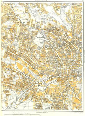 LEEDS.Woodhouse Moor,Woodhouse,Broomfields,Headingley,Armley 1935 old map