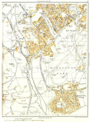 LEEDS.West Wood,Middleton Park,Hunslet,Beeston,Cardinal Estate 1935 old map
