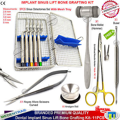 Implant Osteotomes Sinus Lift Periosteal Buser Elevator CrileWood Bone Mallet CE