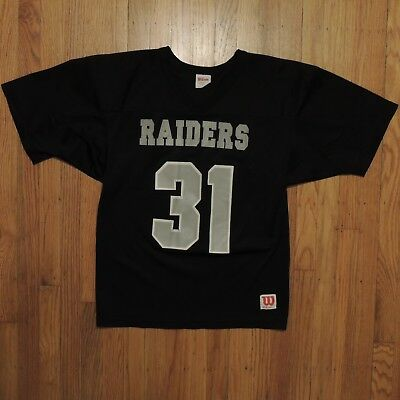 49b8af6ad Oakland Raiders Vintage Wilson Athletics Jersey Youth Black Silver Size  Large