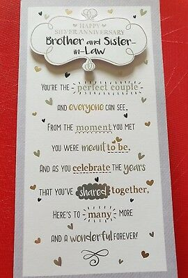 Happy 25th Silver Wedding Anniversary Brother And Sister In Law Card