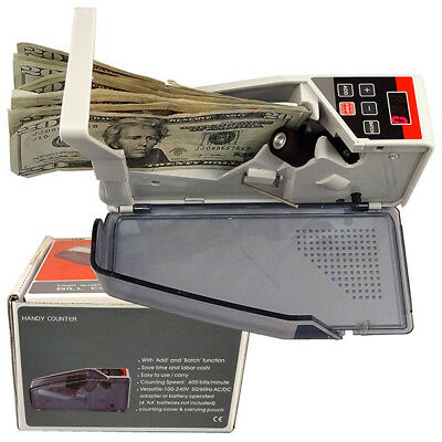 Handy Mini Bill Cash Money Most Currency Count Counting Counter V40 w/ Bag TOP