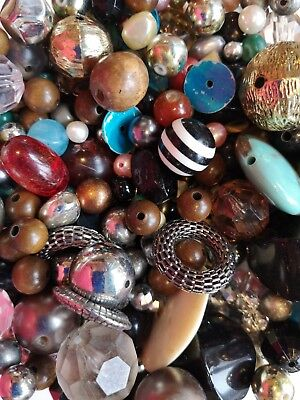 Large Pack Of Mixed Beads For Jewellery Making Craft Projects - 300g