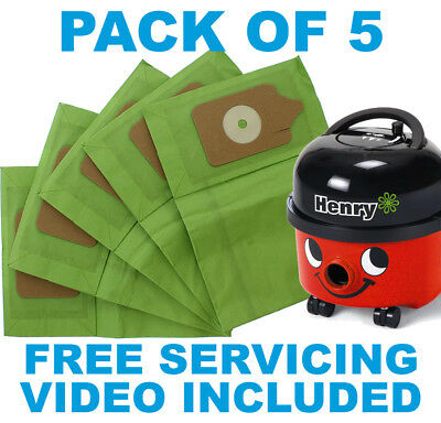 Vacuum Cleaner Bags for Numatic Henry Hetty James Basil David Edward pack of 5