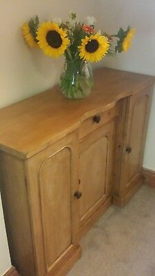Old Antique Stripped Pine Sideboard/cupboard/cabinet Can Deliver See Description