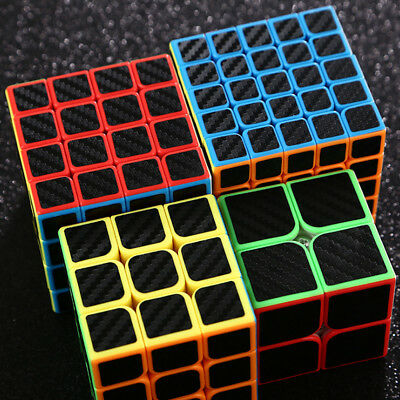 1x Moyu Mofangjiaoshi Carbon Fiber Magic Cube 2x2 3x3x3 4x4x4 5x5x5 Speed Cube