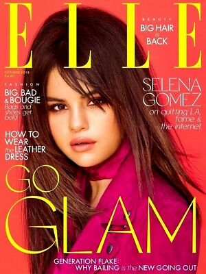 Elle Magazine October 2018 Selena Gomez Cover & Interview ~ New ~