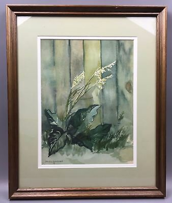 Original Watercolor Painting Listed Canadian Artist Paul Andre (1933–1983)Framed