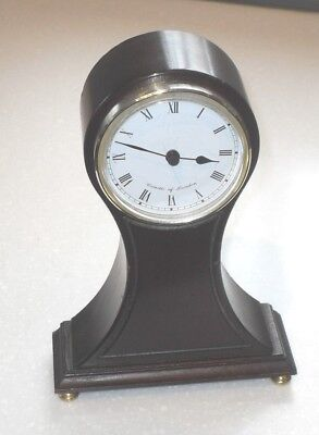 Antique Edwardian Style Comitti Of London Oak Balloon Design Mantle Clock