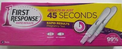 First Response (rapid results in 45 seconds) pregnancy test 2 tests