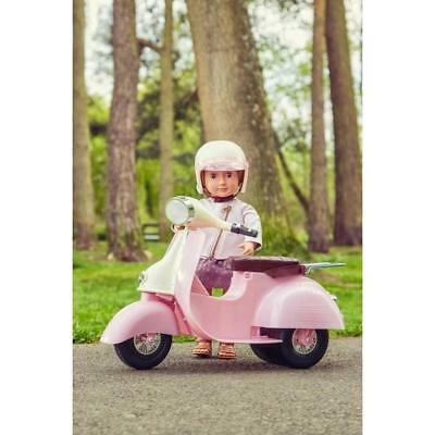 Our Generation Ride In Style Pink Scooter Doll Figure Vehicle Accessory Toy Set