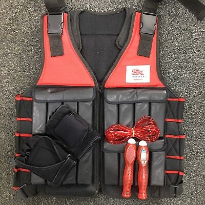 10kg Weighted Jacket with Weighted Gloves & Skip Rope