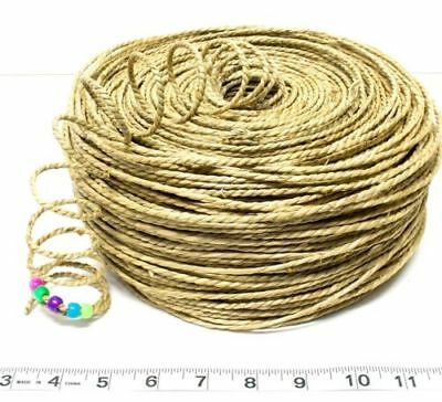 1 pound 210ft Natural Twisted Seagrass Cord Rope-Pet Rabbit Bird Parrot Toy Part