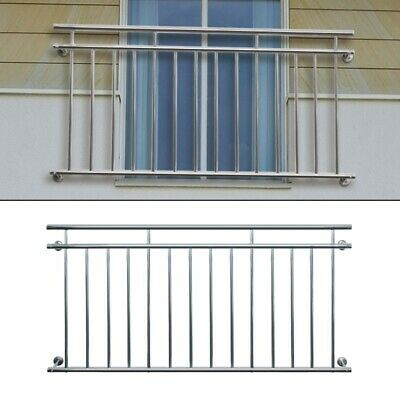 Juliet french balcony 128 x 90 cm security grid stainless steel balustrade rails