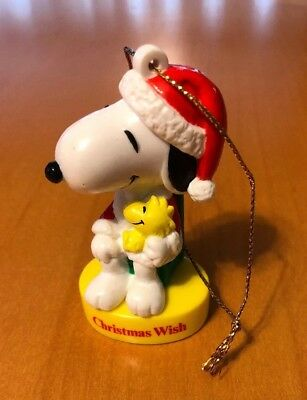 vintage ufs peanuts resin snoopy christmas wish christmas ornament