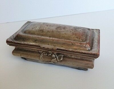 Antique Russian Orthodox Ecclesiastical Box for Baptism Brass 19th century.
