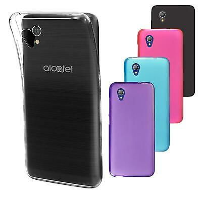 For Alcatel 1 5033X New Black Clear Gel Phone Case Cover + Film Screen Protector