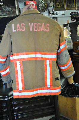 Vintage Las Vegas FireDepartment Janesville Lion Apparel Turnout Coat with Liner