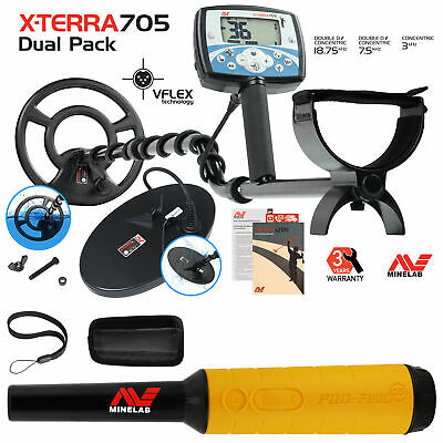 Minelab X-Terra 705 Dual Pack Metal Detector with Pro Find 35 Pinpointer
