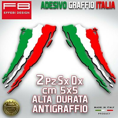Adesivi Stickers ITALY ITALIA FLAG BANDIERA GRAFFIO 2 PZ TOP QUALITY SUPERPROMO