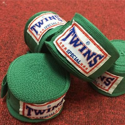 Twins Hand Wraps 5M Kickboxing Boxing Muay Thai MMA Hand Wraps DEEP GREEN