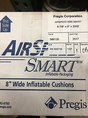 Pregis AirSpeed 5000 Smart Inflatable Cushions 8.875x8x2000' Roll NEW