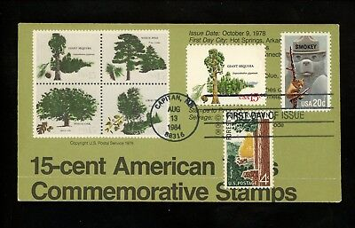 Ranto Cachet US FDC #2096 on 1764-67 w/ 1122 Smokey Bear Forest trees 1984