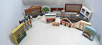 Mostly Cat's Meow Wooden City Sights LOT of 15 -  Many Michigan Landmarks