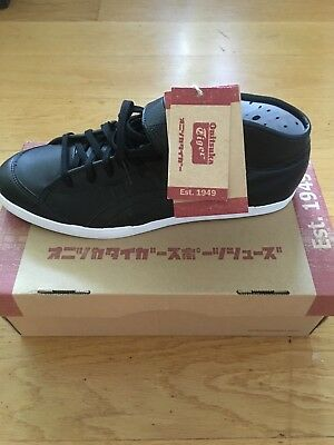 b0a710a19336 NEW ONITSUKA TIGER Coolidge LO Black Athletic Leather Retro Sneakers ...